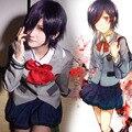 Anime Tokyo Ghoul Kirishima Touka Cosplay Uniform Costume Coat Shirt Skirt Tie Wig