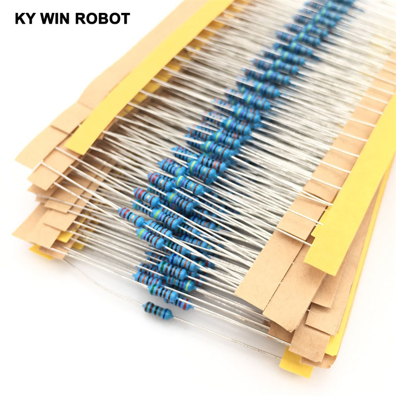 1 Pack 300Pcs 10 -1M <font><b>Ohm</b></font> 1/4w Resistance 1% Metal Film <font><b>Resistor</b></font> Resistance Assortment Kit Set <font><b>30</b></font> Kinds Each 10pcs Free Shipping image