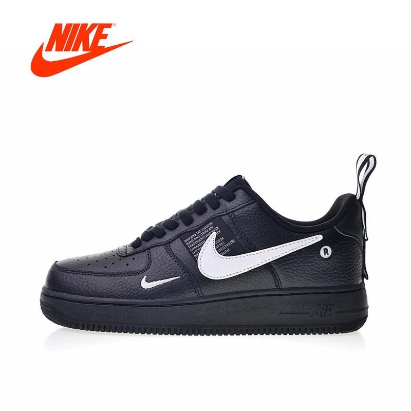 Original Nouvelle Arrivée Authentique Nike Air Force 1 07 LV8 Pack Utilitaire Hommes de Planche À Roulettes Chaussures Sneakers Bonne Qualité AJ7747-001