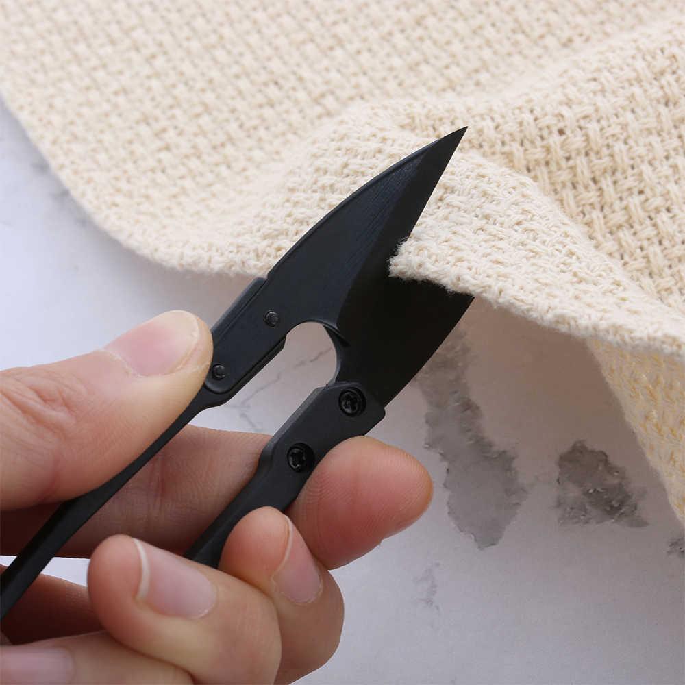 1PC Nero In Acciaio Al Carbonio Forbici a forma di U Filo Filo Filo di Taglio Cucito Snips Ricamo Su Misura Multifunzione Frese E Taglierine Per Micro SIM Mestiere di Cucito