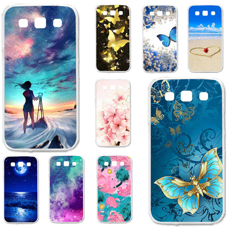 TPU Cases For Samsung Galaxy Win I8552 Case Silicone Floral Painted Bumper For Samsung GT-i8552 4.7 inch Phone Cover Fundas