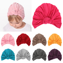 Soft Baby Hat with Knot Candy Color Baby Beanie Turban Kids India Hat Newborn Baby Cap Photo Props yundfly knit baby hat newborn photography props candy color flower beanie cap baby fotografia hair accessories