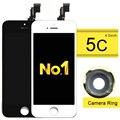 Alibaba de china de cristal táctil pantalla lcd digitalizador asamblea de pantalla para iphone 5c 5g 5S oferta especial + anillo de cámara