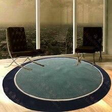 Акриловый круглый ковер, модный Индивидуальный ковер для гостиной, дивана, кровати, спальни, на заказ