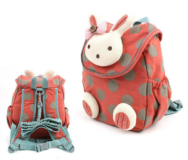 New Baby Safety Harness Anti lost Backpack Strap Keeper School Bag Kids  Backpack Rabbit Beer Design Free Shipping 7556967f37