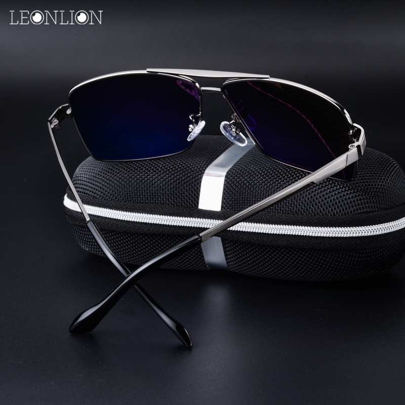 abc5d3c40af Aliexpress.com   Buy LeonLion 2018 Polarized Sunglasses For Men Classic  Vintage Sunglass Top Fishing Men s Glasses Alloy Goggle Male Eyewear HD  UV400 from ...