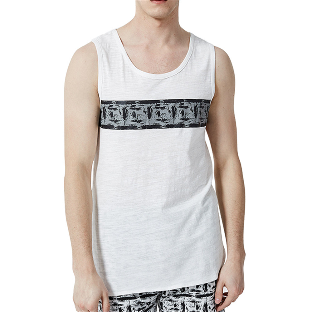 2018 Summer Tank Top Men Undershirt High Quality Men's Vest Casual Brand Clothing Singlet Men's Original Print Tank Tops