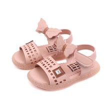 Sandals Kids Leather Shoes Girls Summer New 2019 Children Toddler Hollow Out Girl Baby Dress Bow