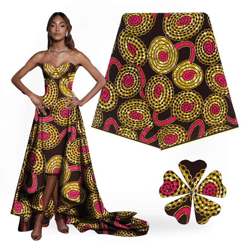 High Class Nigeria Red Dutch Batik Wax Fabric With
