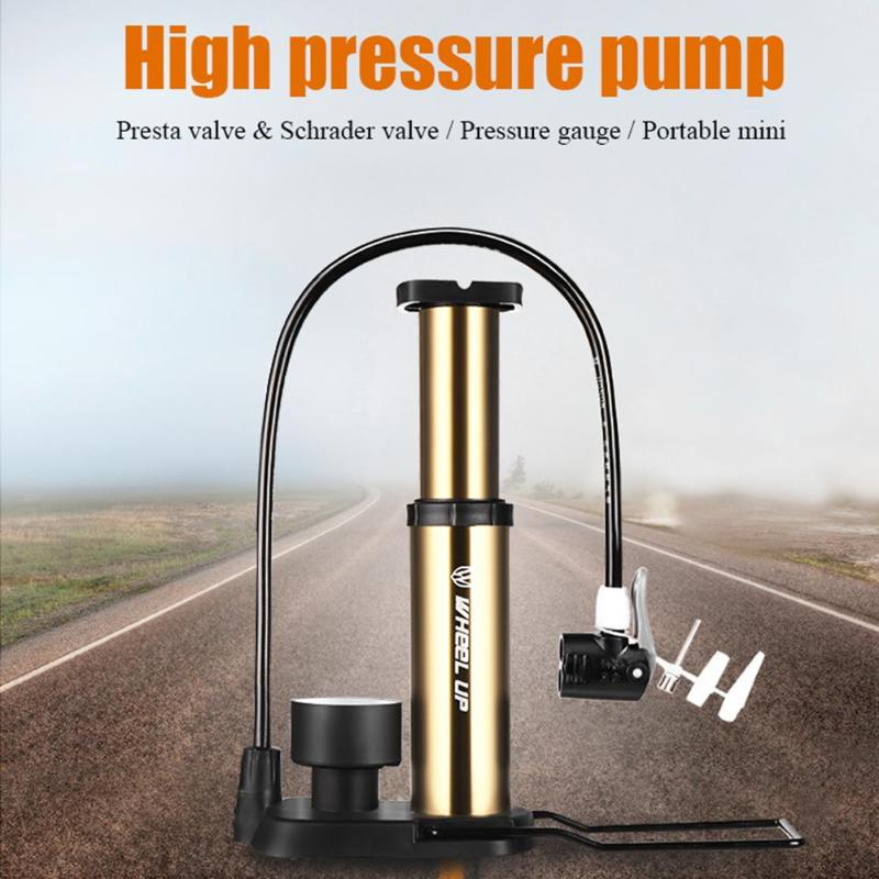 Aluminum Alloy Mini Pump Air Inflator Tyre Tire Pressure Pump Presta Schrader