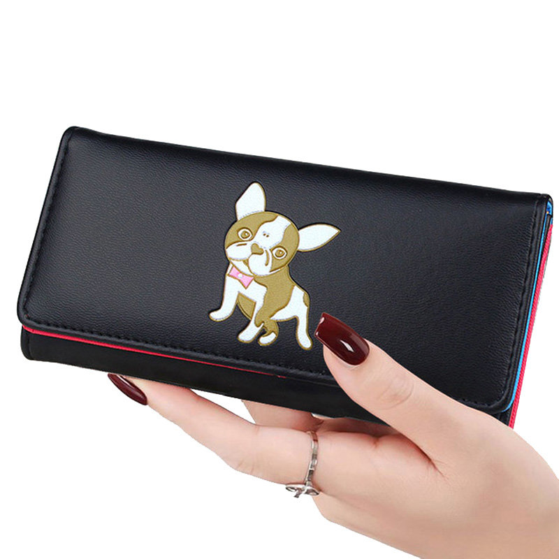 Lady Purses Lovely Dog Coin Purse Pockets Long Short Women Wallets Girls Money Bags Cards Holder Bag Notecase Woman Wallet Pouch