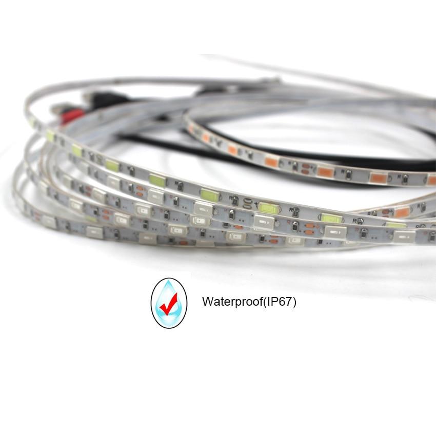 IKVVT 5V USB SMD 5730 5630 LED Strip Light Narrow for TV Computer Flexible Diode Tape High Brightness Waterproof 5mm Width Lamp in LED Strips from Lights Lighting