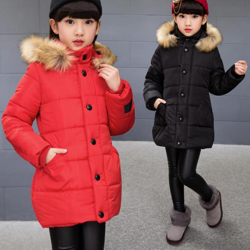 2017 Baby Girls Coats Female Children Winter Jackets Hooded Outdoor Kids Outerwear Warm Casual Wear Parkas Manteau Fille Hiver boy winter coats hot sales children clothing thickening hooded cotton jackets fashion warm baby boy coats clothes outerwear kids