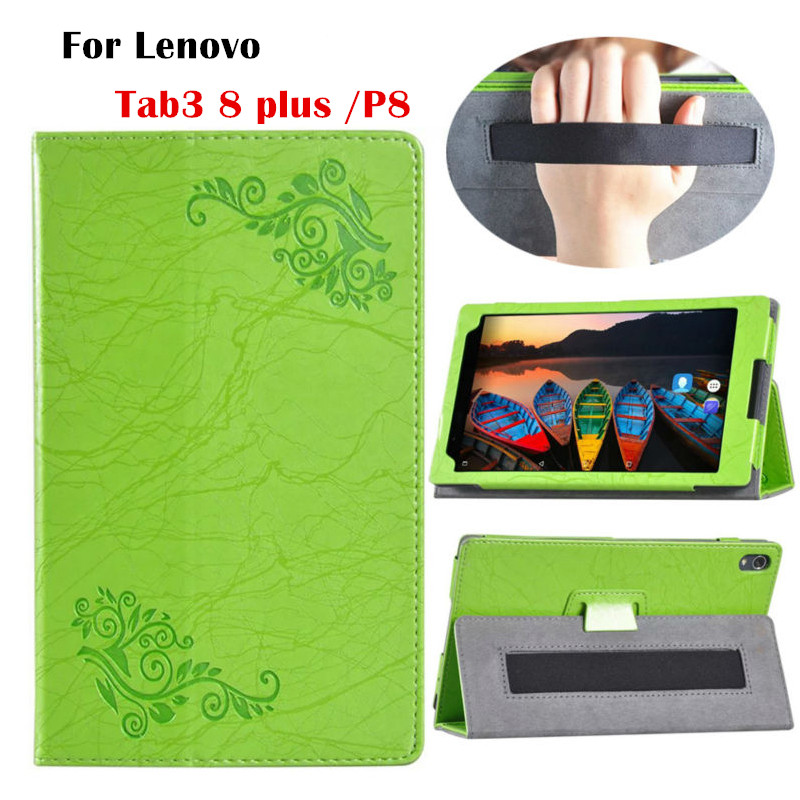 Tab3 8 plus Flip PU Leather Case Slim Flower Print Smart Tablet Cover for Lenovo Tab 3 8Plus & P8 TB-8703 Protective Stand Shell new slim folio bracket for lenovo a7 20f standing tablet cover for lenovo tab 2 a7 20 flip protective tablet case