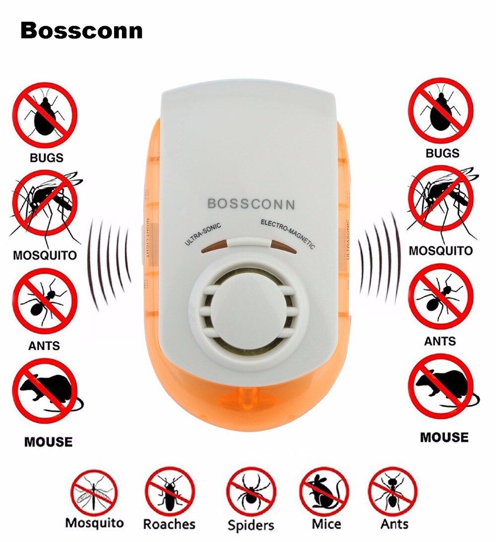 Pest Repellers Ultrasonic Electromagnetic Pest Repeller Pest Killer 5 in 1 Pest Killer Human & Pet Friendly Latest Technology