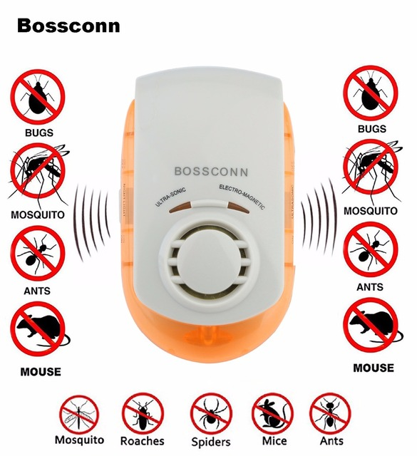 Pest Repellers Ultrasonic Electromagnetic Pest Repeller Pest Killer 5 in 1 Pest Killer Human & Pet Friendly UP-0001