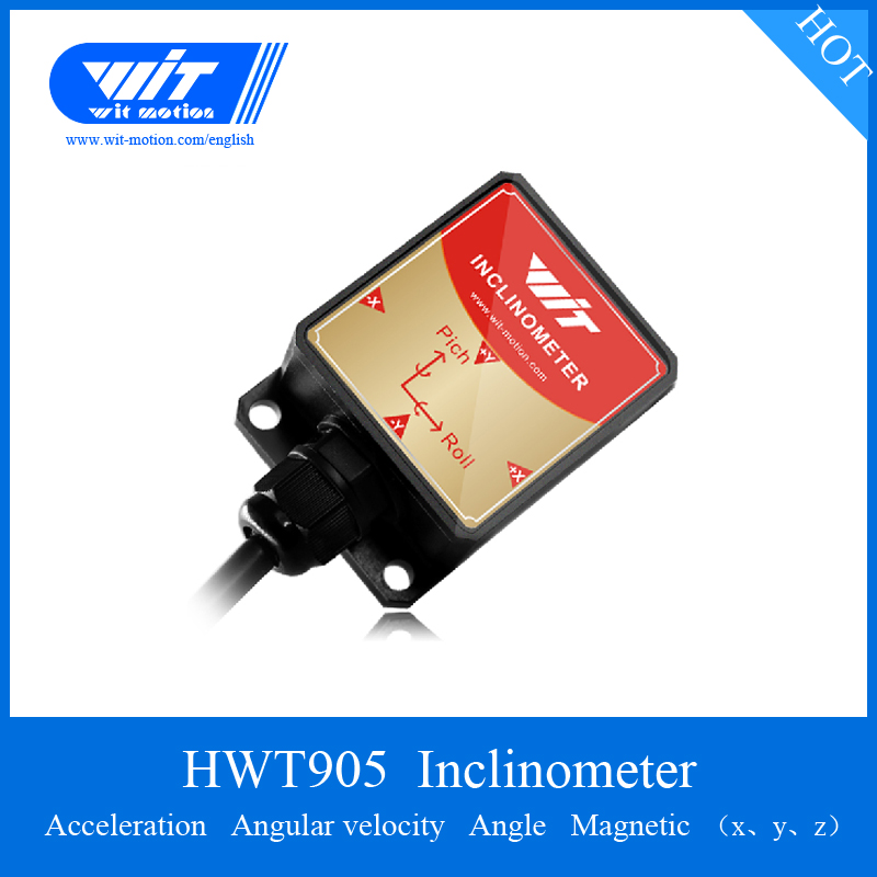Hwt905 Sensor Military-grade High Precision 0.05 Degree 3 Axis Angle Measurement Inclinometer Ip67 Waterproof & Anti-vibration Fast Color