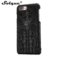 Luxury 3D Crocodile Skin Texture Real Genuine Leather Cover Case For IPhone 6 6S Plus 5