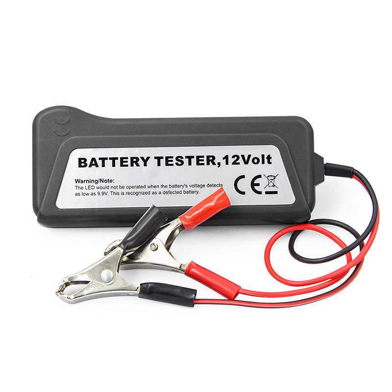 Mini 12 v testador de bateria carro alternador testador digital 6 luzes led display ferramenta diagnóstico do carro testador bateria automóvel para carro