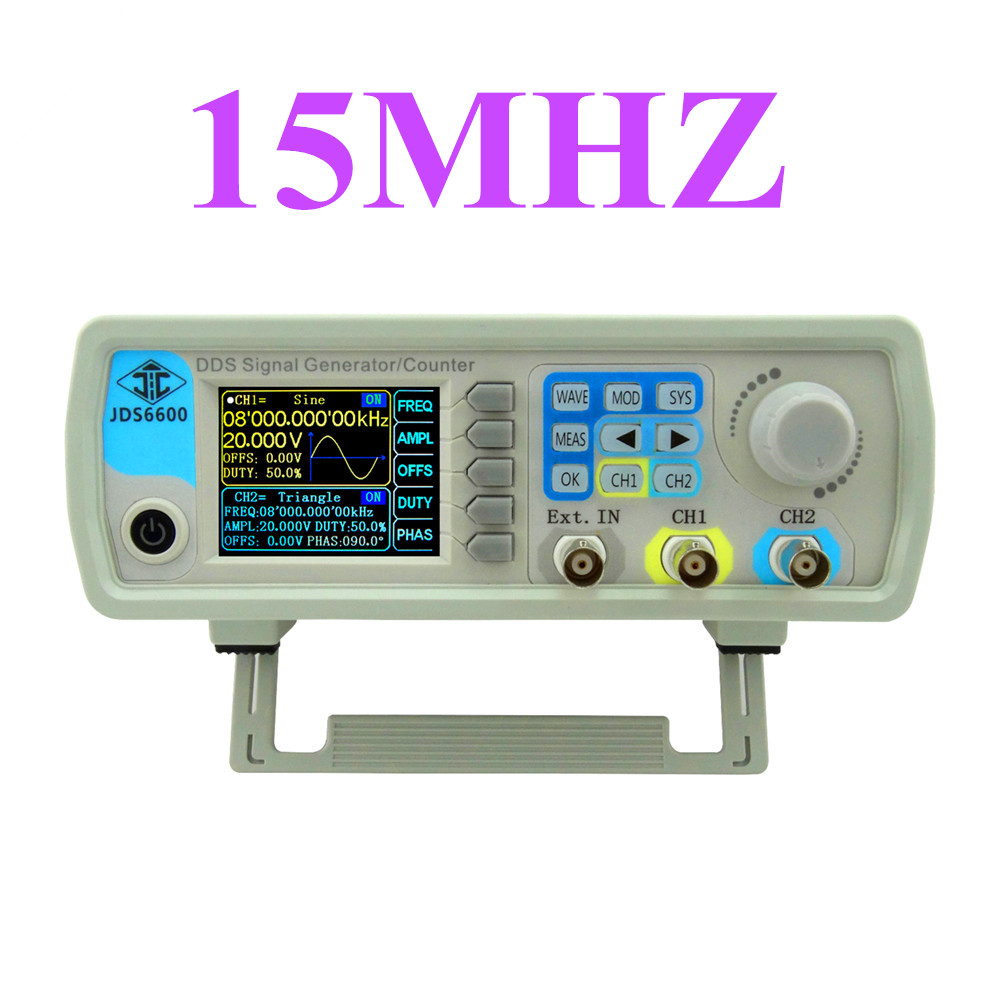 JDS6600 series DDS signal generator Digital Dual-channel Control frequency meter Arbitrary sine Waveform 15MHZ   45%OFF seegers jesse agenda jds architects