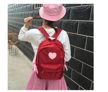 Ventes chaudes! coeur Motif Sac D'école sac à dos En Nylon adolescents filles haute école enfants sac à dos