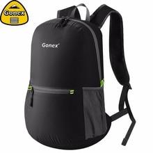 Gonex 20L сверхлегкий рюкзак складной рюкзак нейлон черный мешок для школы путешествия Пешие прогулки Спорт на открытом воздухе 2019 семья активности