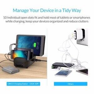 Image 3 - ORICO 10 יציאות USB מטען תחנת Dock עם מחזיק 120W 5V2.4A * 10 USB טעינה עבור טלפון חכם Tablet מחשב החל לבית ציבורי