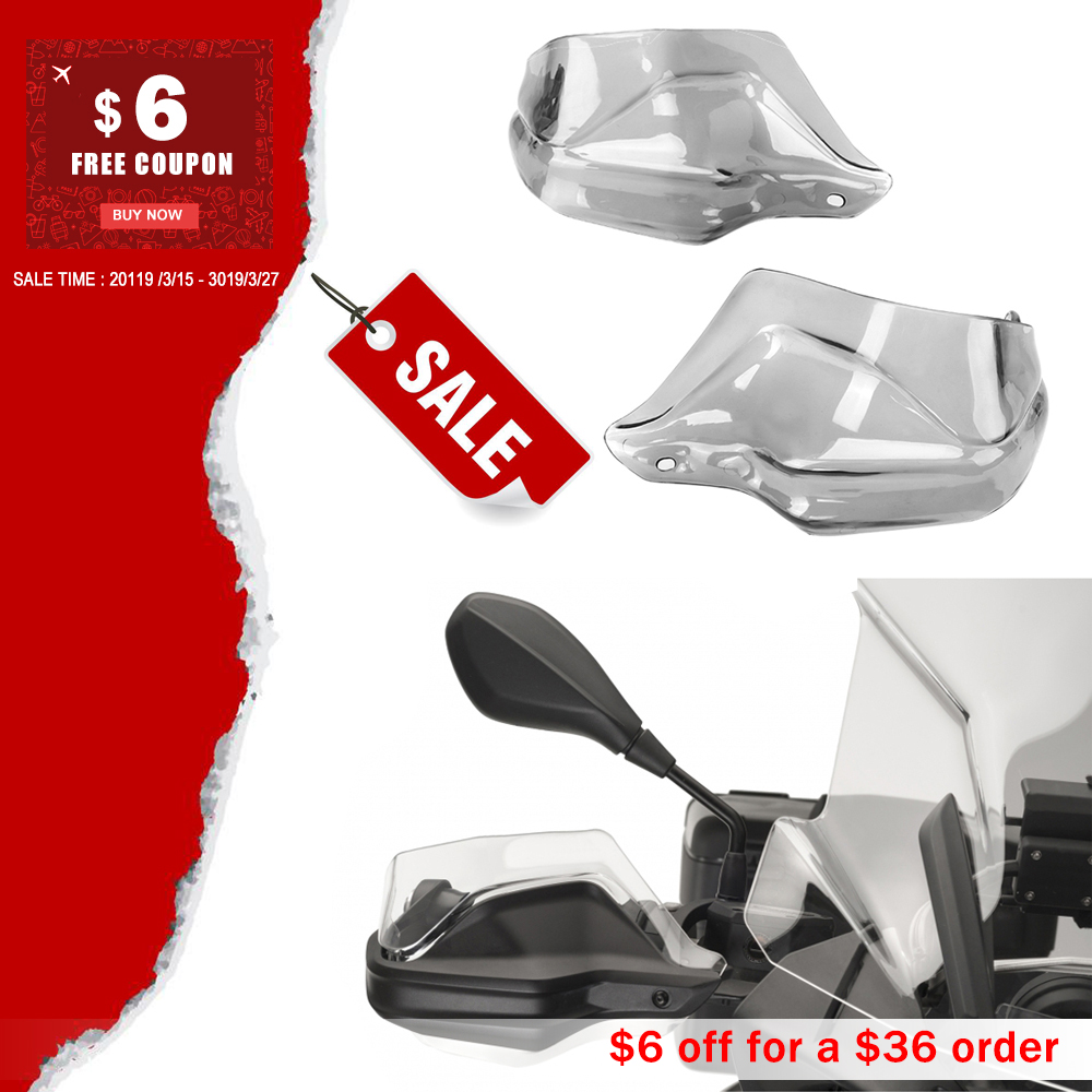 For BMW R 1200 GS ADV F 800 GS Adventure S1000XR Handguard Hand shield Protector Windshield Smoke 2013 2014 2015 2016 2017 2018For BMW R 1200 GS ADV F 800 GS Adventure S1000XR Handguard Hand shield Protector Windshield Smoke 2013 2014 2015 2016 2017 2018