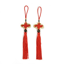 100 Pcs Polyester Chinese Knots Knotting Lucky Amulet Tassel Blessing Gifts Curtain Garment Fringe Trim Pendant Decoration 2018