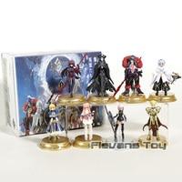 Fate Grand Order Duel FGO Vol.1 Altria Pendragon Gilgamesh Mash Kyrielight Cu Chulainn PVC Figures Toys 8pcs/set