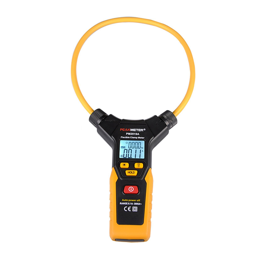 HHTL-PEAKMETER PM2019A AC Digital Flexible Clamp Meter Orange with Large Size