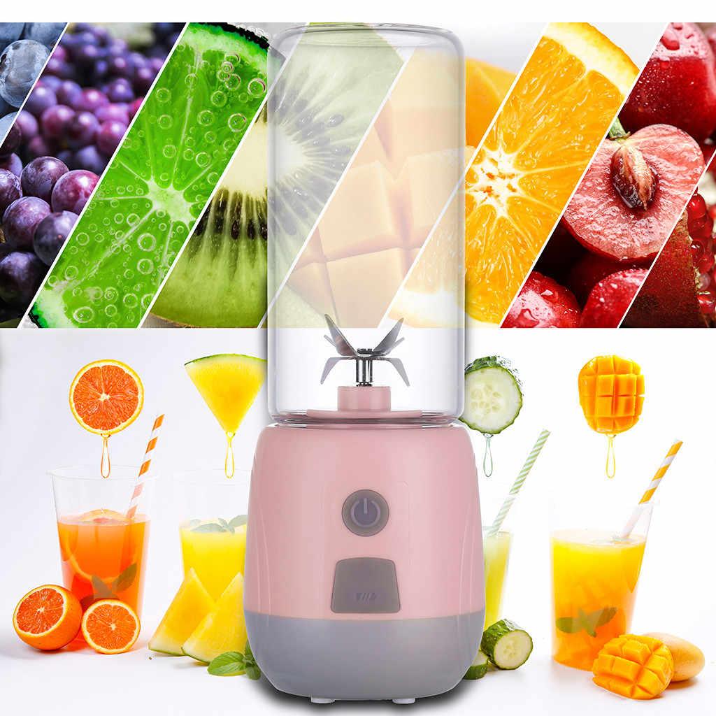Fabricante De Suco De Vegetais Liquidificador Espremedor de Frutas Elétrico Handheld portátil USB Recarregável Mini Tomada de Suco de Copo Com Cabo de Carregamento