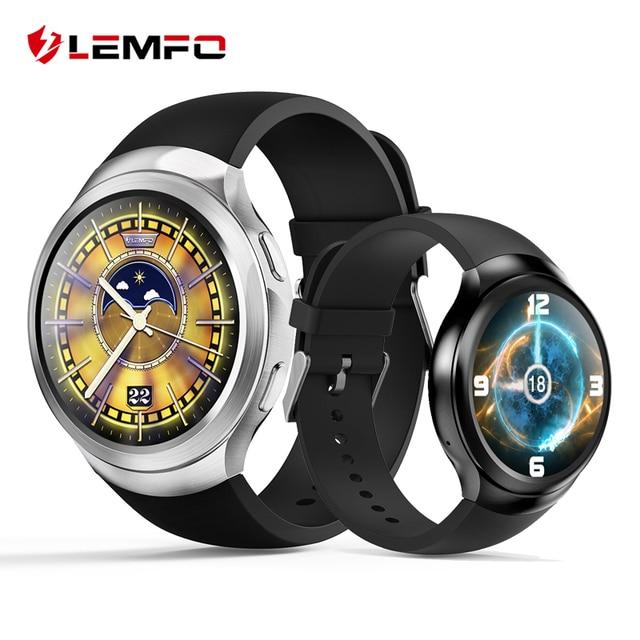 Lemfo LES2 Android 5.1 Смарт-часы 1 ГБ + 16 ГБ сердечного ритма Мониторы Фитнес трекер GPS WI-FI Relogio SmartWatch Смарт наручные часы