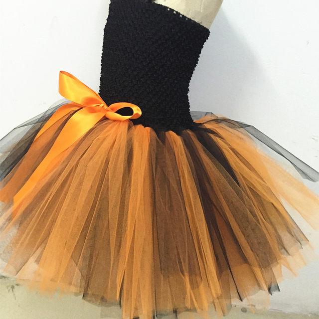 image & Online Shop Pumpkin Halloween Tutu Dress Girls Party Halloween ...