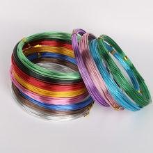 Pulseira de alumínio para faça você mesmo, cordão para miçangas de alumínio, cor anadiada, 1mm 1.5mm 2mm 2.5mm, colar, joias produção de resultados