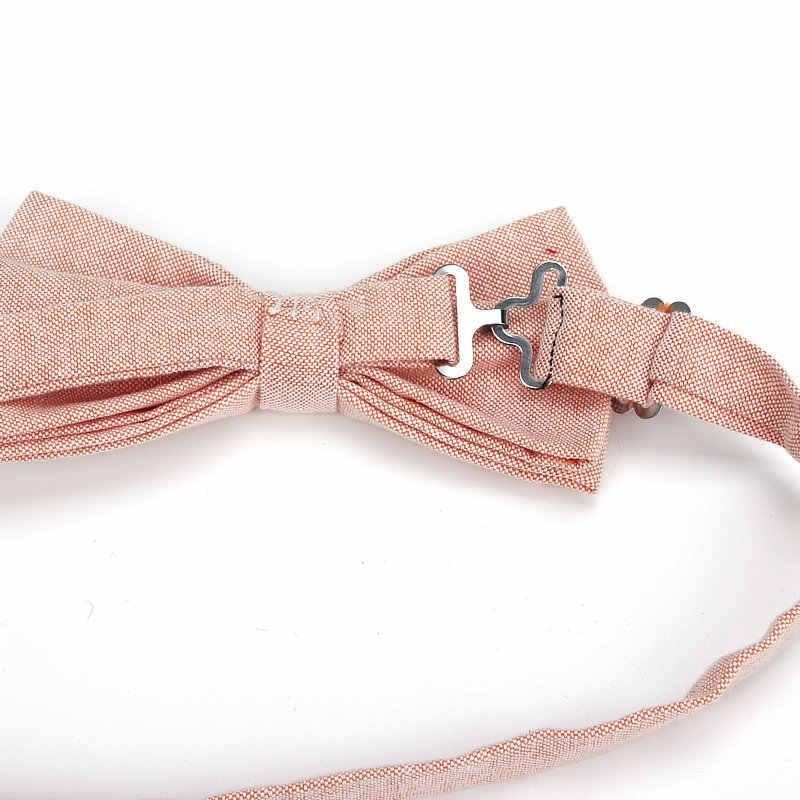 Новый брендовый мужской галстук-бабочка, хлопковый Детский Повседневный галстук-бабочка, красный, синий, розовый, Одноцветный галстук-бабочка, бабочки для смокинга, мужской, для родителей, Детская бабочка