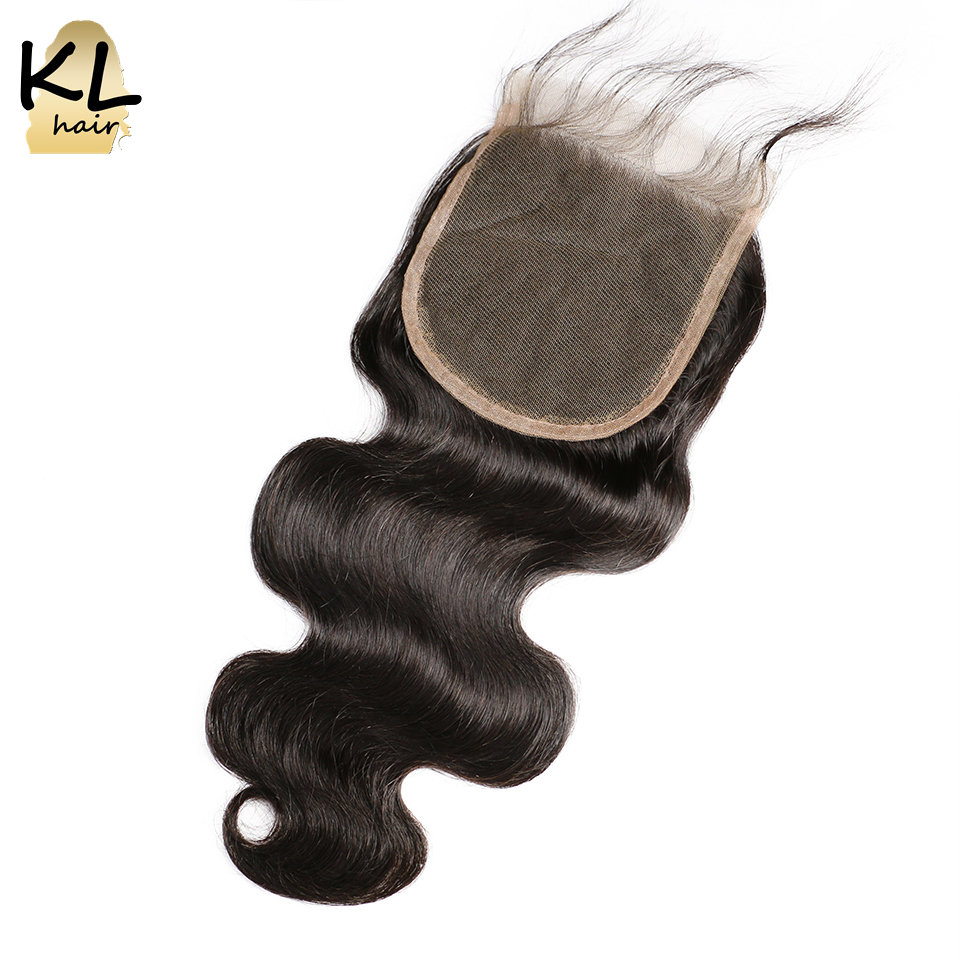 5x5 Body Wave Lace Closure Free Middle 3 Part Human Hair Natural Black Brazilian Remy Hair Closure Bleached Knots With Baby Hair