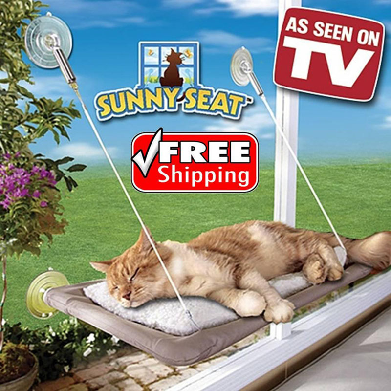Fantastic Us 15 18 5 Off Tv Product Sunny Seat Window Mounted Cat Bed Machine Washable Cover Comfortable Cat Hammock Soft Warm Safe Blanket In Cat Beds Mats Andrewgaddart Wooden Chair Designs For Living Room Andrewgaddartcom