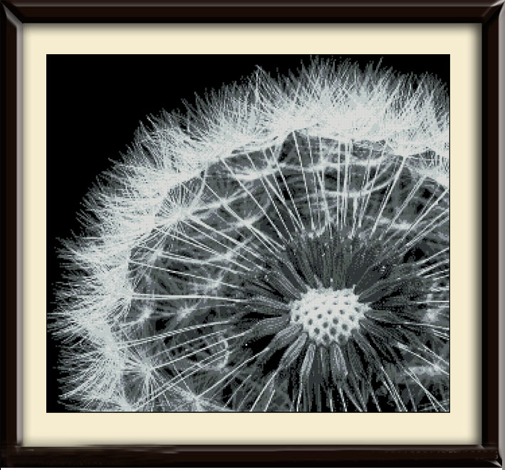 Top Quality Beautiful Lovely Counted Cross Stitch Kit Dandelion At Night In The Dark