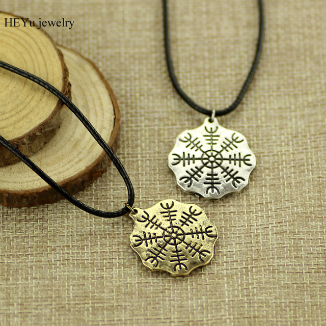 Antique bronze viking pendant necklace odins symbol of norse runic antique bronze viking pendant necklace odins symbol of norse runic pendant necklace viking compass jewelry hot aloadofball Image collections