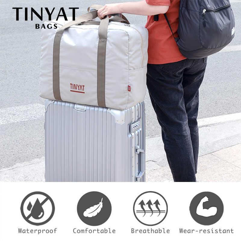TINYAT Женская дорожная сумка жесткий складной багаж вакуумные пакеты для одежды деловые сумки для мужчин сумка для хранения носить на висячем чемодане легкий Gar Мужская t сумка