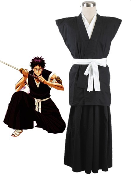 Free Shipping Bleach Gotei Thirteen Shuhei Hisagi Lieutenant of the 9th Division Soul Reaper Kimono Anime Cosplay Costumes