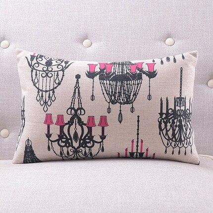 Розовая люстра подушки люстра с покрытием чехлы на подушки 45х45см наволочка 30X50 см домашний Спальня диван кровать украшения - Цвет: 11