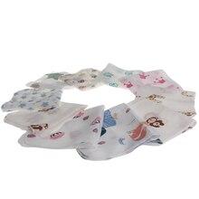 Мягкое муслиновое полотенце для малышей 28*28 см, 10 шт., Двухслойное полотенце