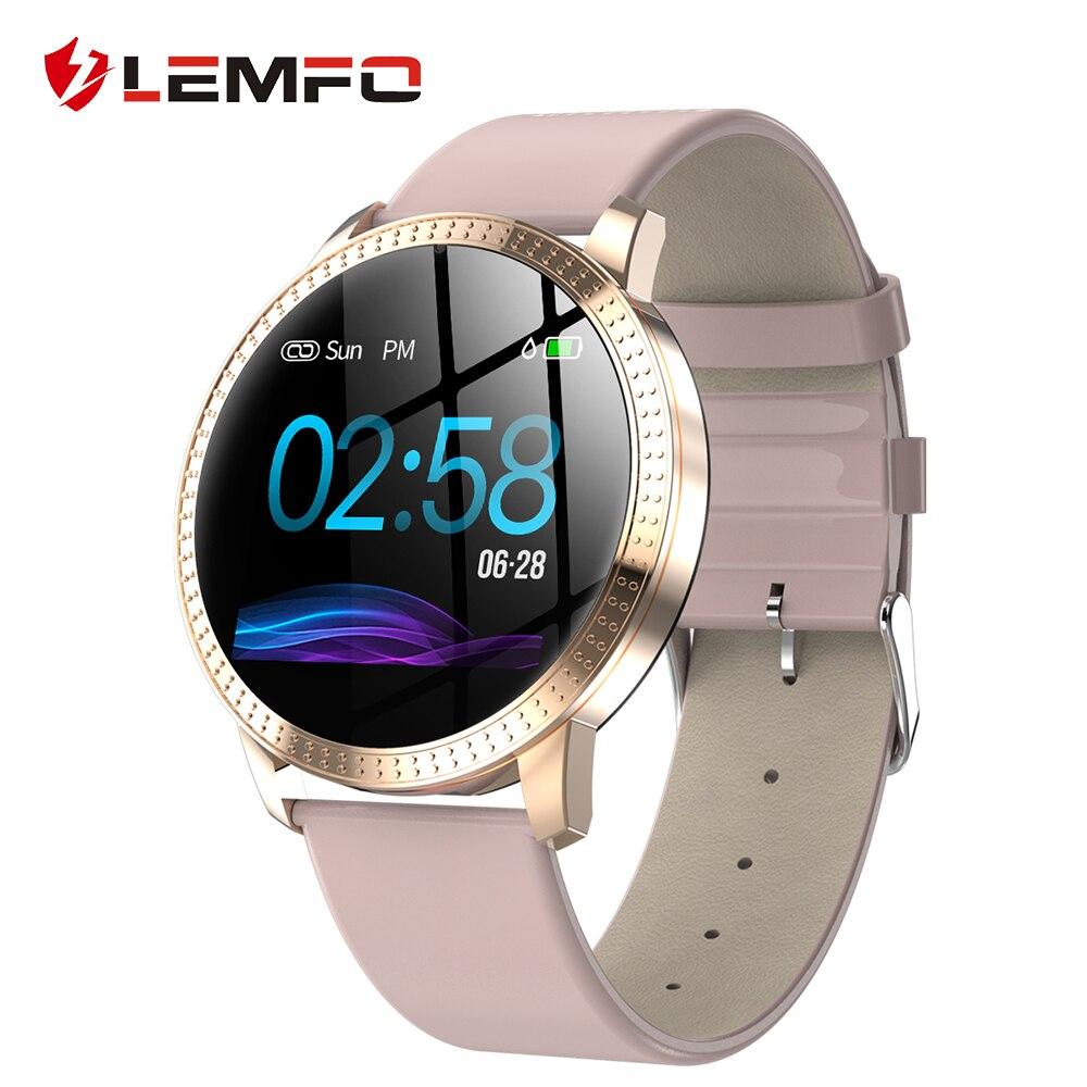 LEMFO originales de las mujeres reloj inteligente de Monitor de presión arterial mensaje recordatorio de llamada podómetro calorías Smartwatch hombres