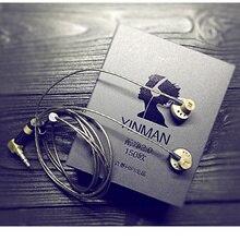 חדש YINMAN 150 אוהם עכבה גבוהה באוזן אוזניות 150ohm Earbud שטוח ראש תקע אטמי אוזניים HIFI Earbud אוזניות Limite