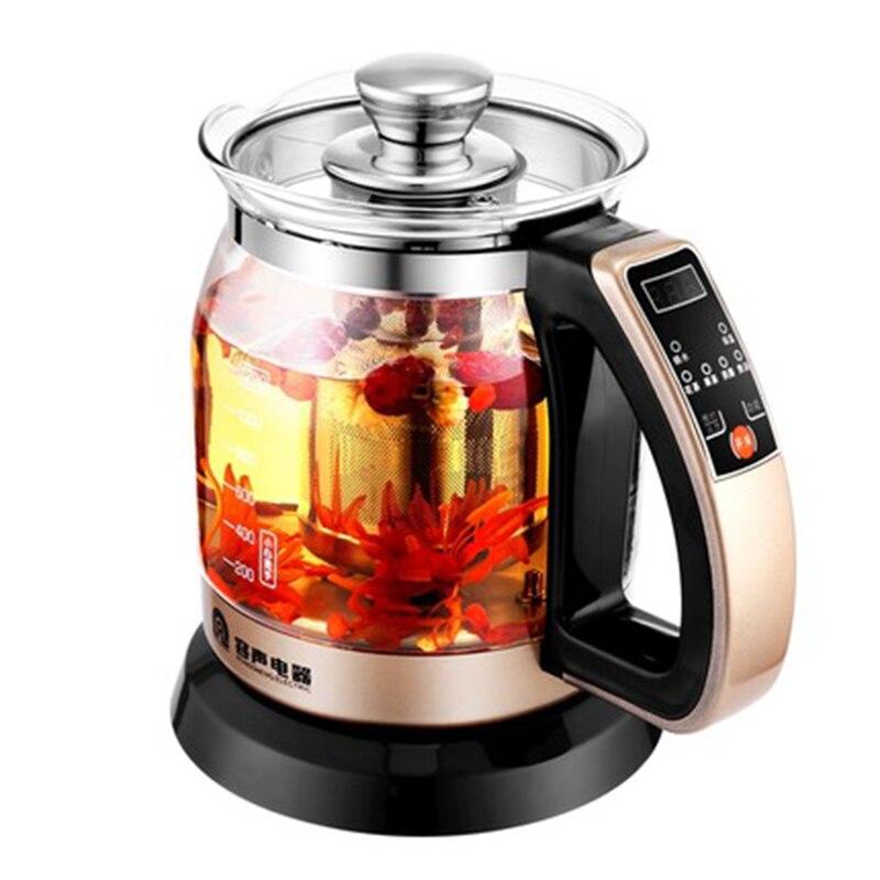 Электрический чайник здоровья горшок автоматический утолщенные стекла чай черный чай Электрический мини офис изоляции Цветочный чай