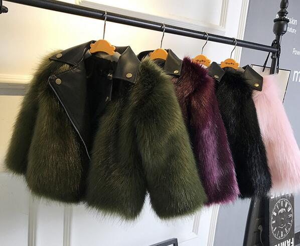 Girl Artificial Imitation Fur Coat of Fox Fur High Quality autumn jackets for girls casual clothes baby wool thick coat warm 2017 winter new clothes to overcome the coat of women in the long reed rabbit hair fur fur coat fox raccoon fur collar