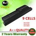 Atacado novo 9 células bateria do portátil para dell vostro 1310 1320 1510 1520 2510 n958c g276c y022c y024c 312-0724 frete grátis