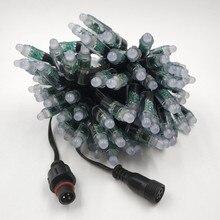 1000 قطعة DC12V 100 العقد/سلسلة 18awg WS2811 رصاصة led بكسل الأسود سلك ip68 مع 13.5 مللي متر/18.5 مللي متر/xconnect موصل